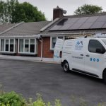 Caldor Solar arrive at house to install solar panels